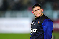 Shaun Knight of Bath Rugby looks on during the pre-match warm-up. Anglo-Welsh Cup match, between Bath Rugby and Gloucester Rugby on January 27, 2017 at the Recreation Ground in Bath, England. Photo by: Patrick Khachfe / Onside Images