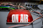 UGANDA, Arua, radio station Radio Pacis, ON AIR lamp