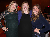 NWA Democrat-Gazette/CARIN SCHOPPMEYER Erica Osterhaut (from left), Kristin Wynineger and Ashley Skagg attend the Youth of the Year celebration.