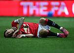 Manchester United's Angel Di Maria gets a kick<br /> <br /> FA Cup - Preston North End vs Manchester United  - Deepdale - England - 16th February 2015 - Picture David Klein/Sportimage