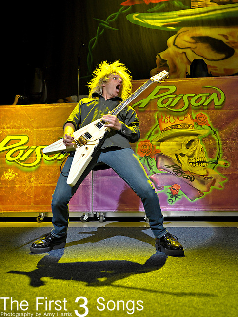 C.C. DeVille of Poison performs on July 2, 2012 at Riverbend Music Center in Cincinnati, Ohio.