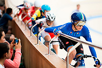 Picture by Alex Whitehead/SWpix.com - 09/12/2017 - Cycling - UCI Track Cycling World Cup Santiago - Velódromo de Peñalolén, Santiago, Chile - Italy's Elisa Balsamo during the Women's Omnium Scratch race.