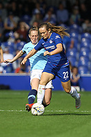 Erin Cuthbert of Chelsea Ladies and Keira Walsh of Manchester City Women during Chelsea Women vs Manchester City Women, FA Women's Super League FA WSL1 Football at Kingsmeadow on 9th September 2018