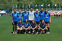 Kansas City, MO - Saturday May 13, 2017: FC Kansas City starting XI prior to a regular season National Women's Soccer League (NWSL) match between FC Kansas City and the Portland Thorns FC at Children's Mercy Victory Field.