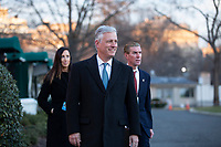 National Security Advisor Robert O'Brien departs a television interview outside the White House in Washington D.C., U.S., on Tuesday, January 7, 2019.<br /> <br /> Credit: Stefani Reynolds / CNP/AdMedia
