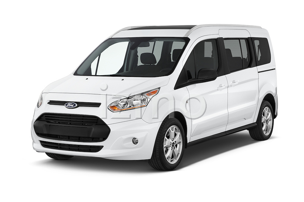 2016 Ford Transit-Connect XLT-LWB 5 Door mini MPV Angular Front stock photos of front three quarter view