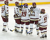 Dan Bertram, Mike Brennan, Brock Bradford, Anthony Aiello, Nathan Gerbe - Boston College defeated Merrimack College 3-0 with Tim Filangieri's first two collegiate goals on November 26, 2005 at Kelley Rink/Conte Forum in Chestnut Hill, MA.