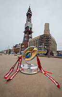 Picture by Paul Currie/SWpix.com - 02/07/2014 - Rugby League copyright picture - Simon Wilkinson - simon@swpix.com - Picture shows the Kingstone Press trophy in Blackpool
