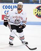 Drew Ellement (Northeastern - 2) - The visiting Merrimack College Warriors defeated the Northeastern University Huskies 4-3 (OT) on Friday, February 4, 2011, at Matthews Arena in Boston, Massachusetts.