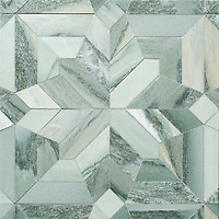 Dominic, a hand-cut stone mosaic, shown in honed Kay's Green, is part of the Semplice™ collection for New Ravenna.