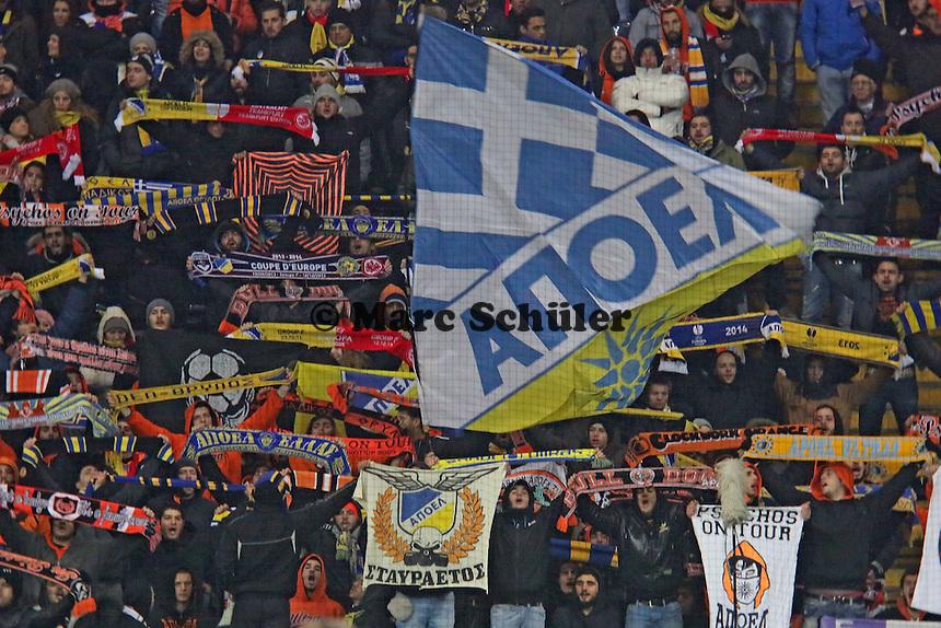 Fans aus Nikosia - Eintracht Frankfurt vs. APOEL Nikosia, Commerzbank Arena, Europa League Gruppenphase