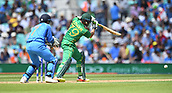 June 18th 2017, The Kia Oval, London, England;  ICC Champions Trophy Cricket Final; India versus Pakistan; Azhar Ali of Pakistan drives the ball for a single