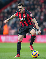 Charlie Daniels of AFC Bournemouth during the Premier League match between Bournemouth and Arsenal at the Goldsands Stadium, Bournemouth, England on 14 January 2018. Photo by Andy Rowland.
