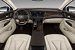 Stock photo of straight dashboard view of a 2019 Buick LaCrosse Essence 4 Door Sedan