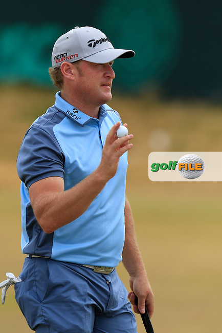 Jamie DONALDSON (WAL) sinks his putt on the 17th green during Thursday's Round 1 of the 2015 U.S. Open 115th National Championship held at Chambers Bay, Seattle, Washington, USA. 6/18/2015.<br /> Picture: Golffile | Eoin Clarke<br /> <br /> <br /> <br /> <br /> All photo usage must carry mandatory copyright credit (&copy; Golffile | Eoin Clarke)