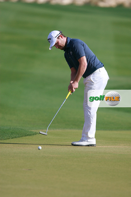 Branden Grace (RSA) on the 18th green during Saturday's Round 2 of the 2012 Commercialbank Qatar Masters presented by Dolphin Energy at Doha Golf Club, Qatar, 4th February 2012 (Photo Eoin Clarke/www.golffile.ie)