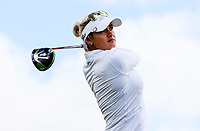 Amy Boulden. McKayson NZ Women's Golf Open, Round Two, Windross Farm Golf Course, Manukau, Auckland, New Zealand, Saturday 30 September 2017.  Photo: Simon Watts/www.bwmedia.co.nz
