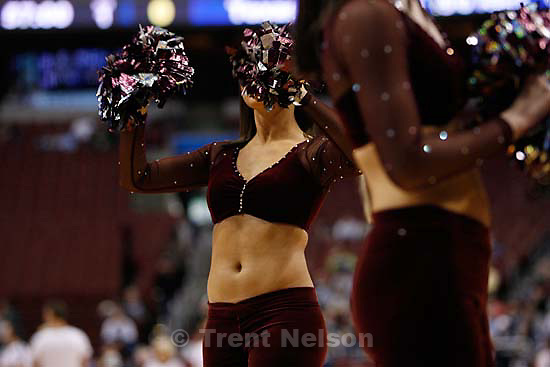 Philadelphia - BYU vs. Texas A&M college basketball, first round NCAA Division I Men's Basketball Championship at the Wachovia Center Thursday March 19, 2009. .texas cheerleaders