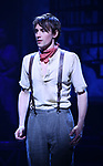 """Reeve Carney during the Broadway Press Performance Preview of """"Hadestown""""  at the Walter Kerr Theatre on March 18, 2019 in New York City."""