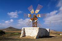 Tefia, Windmühle, Fuerteventura, Kanarische Inseln, Spanien