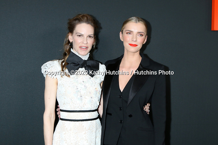 """LOS ANGELES - MAR 9:  Hilary Swank, Betty Gilpin at the """"The Hunt"""" Premiere at the ArcLight Hollywood on March 9, 2020 in Los Angeles, CA"""