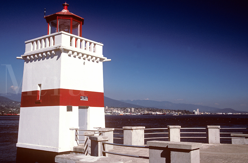Lighthouse on Prospect Point in Stanley Park. Vancouver B.C. Canada
