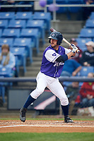 Binghamton Rumble Ponies right fielder Kevin Kaczmarski (14) at bat during a game against the Akron RubberDucks on May 12, 2017 at NYSEG Stadium in Binghamton, New York.  Akron defeated Binghamton 5-1.  (Mike Janes/Four Seam Images)