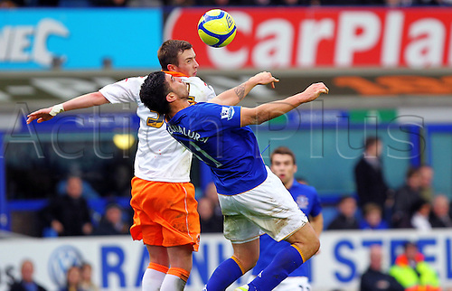 18.2.2012 Liverpool, England. Goalscorer and Everton Argentinian Striker Denis Stracqualursi in action during the Budweiser FA Cup match between Everton and Blackpool, played at Goodison Park. Everton won by a score of 2-0 to move into the 6th round.