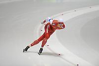 SCHAATSEN: HEERENVEEN: 04-10-2014, IJsstadion Thialf, Trainingswedstrijd, Maurice Vriend, ©foto Martin de Jong