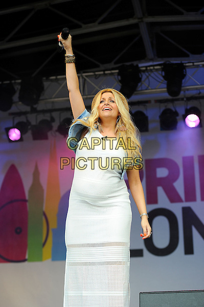 LONDON, UK, JUNE 28: presenter (unnamed) live on stage at Pride London in Trafalgar Square on June 28th 2014 in London, England, UK.<br /> CAP/MAR<br /> &copy; Martin Harris/Capital Pictures