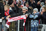 08.02.2019, RheinEnergieStadion, Koeln, GER, 2. FBL, 1.FC Koeln vs. FC St. Pauli,<br />  <br /> DFL regulations prohibit any use of photographs as image sequences and/or quasi-video<br /> <br /> im Bild / picture shows: <br /> Fans, freundlich, Stimmung, farbenfroh, Nationalfarbe, geschminkt, Emotionen, koelner<br /> <br /> Foto © nordphoto / Meuter