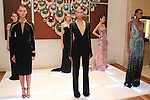 Models pose in outfits from the Pamella Roland Resort 2017 collection at Bvlgari located at 4 West 57 Street in New York City, on June 8, 2018.