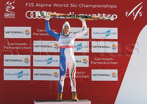 09.02.2011 FIS ALPINE WORLD SKI CHAMPIONSHIPS. INNERHOFER Christof, in Garmisch-Partenkirchen, Germany.