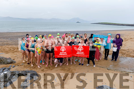 Ready to take the Polar Plunge in aid of Special Olympics Ireland in Fenit on Sunday morning.