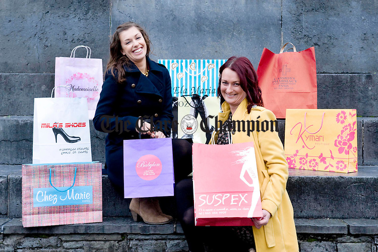 Fiona Allen from Babylon and Nicola Danaher from Suspex at O' Connell Square for the launch of Window Shopping With A Difference which takes place on October 29. Photograph by Declan Monaghan