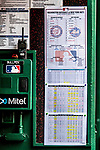 1 August 2018: An MLB Lineup Card with incorrect dates and venue is used for a game between the New York Mets and the Washington Nationals at Nationals Park in Washington, DC. The Nationals defeated the Mets 5-3 to sweep the 2-game weekday series. Mandatory Credit: Ed Wolfstein Photo *** RAW (NEF) Image File Available ***