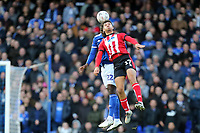 Tyler Walker of Lincoln City and Aristote Nsiala of Ipswich Town during Ipswich Town vs Lincoln City, Emirates FA Cup Football at Portman Road on 9th November 2019