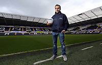 Friday 17 May 2013<br /> Pictured: Leon Britton in Barclays gear.<br /> Re: Barclay's Premier League side Swansea City FC training at Landore near the Liberty Stadium, ahead of this Sunday's home game against Fulham.