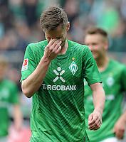 FUSSBALL   1. BUNDESLIGA   SAISON 2011/2012   32. SPIELTAG SV Werder Bremen - FC Bayern Muenchen               21.04.2012 Markus Rosenberg (SV Werder Bremen)  enttaeuscht