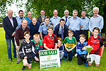 Launching the Killarney Garda Primary Schools 7-a-side Football blitz which will be held next Monday in Fitzgerald Stadium on Tuesday were front row l-r; Matthew Horgan Monastry, Evan O'Sullivan Kilcummin, Harry Kelly Fossa, Fionn Doyle, Ted O'Gorman, Stephen Moynihan St Olivers, Darren Ryan Fossa, Middle row: Pat Kelliher, Niall O'Mahony, Mike Milner, Shane Enright. Back row: Tom Tobin, Eddie Walsh, Mikey Sheehy, Tom Spillane, Leo Randles, John O'GormanBill Stack Colm O'Sullivan