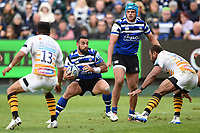 Kahn Fotuali'i of Bath Rugby in possession. Gallagher Premiership match, between Bath Rugby and Wasps on May 5, 2019 at the Recreation Ground in Bath, England. Photo by: Patrick Khachfe / Onside Images