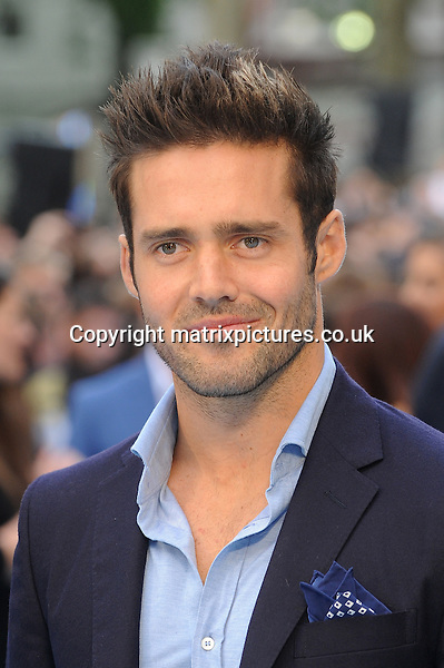 NON EXCLUSIVE PICTURE: PAUL TREADWAY / MATRIXPICTURES.CO.UK<br /> PLEASE CREDIT ALL USES<br /> <br /> WORLD RIGHTS<br /> <br /> Made In Chelsea reality television personality, Spencer Matthews attending the European Premiere of Entourage at Vue West End, in London.<br /> <br /> JUNE 9th 2015<br /> <br /> REF: PTY 151850