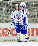 Stockholm 2015-03-14 Bandy Bronsmatch Hammarby IF - Villa Lidk&ouml;ping BK :  <br /> Villa Lidk&ouml;pings David Karlsson firar sitt 3-1 m&aring;l med Daniel Andersson under matchen mellan Hammarby IF och Villa Lidk&ouml;ping BK <br /> (Foto: Kenta J&ouml;nsson) Nyckelord:  Tele2 Arena SM Brons Bronsmatch Tredjepris herr herrar Hammarby HIF Bajen Villa Lidk&ouml;ping VLBK jubel gl&auml;dje lycka glad happy