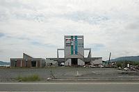 Landscape view of a damaged building in Rikuzentakata City following the 311 Tohoku Tsunami in Rikuzentakata, Japan  © LAN