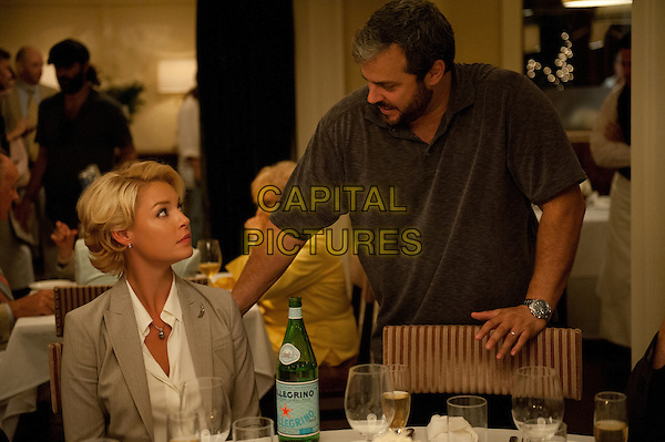 Katherine Heigl &amp; Justin Zackham (director)<br /> on the set of The Big Wedding (2013) <br /> *Filmstill - Editorial Use Only*<br /> CAP/FB<br /> Supplied by Capital Pictures