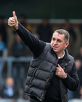 Thumbs up from Martin Allen Manager of Barnet during the Sky Bet League 2 match between Wycombe Wanderers and Barnet at Adams Park, High Wycombe, England on 16 April 2016. Photo by Andy Rowland.