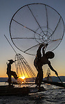 Myanmar, Inle Lake, fishermen