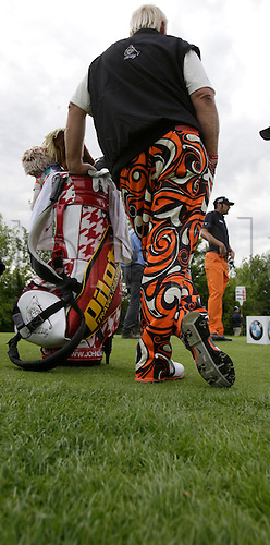 22.06.2012, Pulheim Cologne, Germany: John Daly USA with bright trousers at the BMW International Open at Gut Larchenhof.