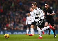 17th March 2018, Craven Cottage, London, England; EFL Championship football, Fulham versus Queens Park Rangers; Stefan Johansen of Fulham sprinting with the ball into the midfield