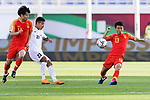 Chi Zhongguo of China (R) in action during the AFC Asian Cup UAE 2019 Group C match between China (CHN) and Kyrgyz Republic (KGZ) at Khalifa Bin Zayed Stadium on 07 January 2019 in Al Ain, United Arab Emirates. Photo by Marcio Rodrigo Machado / Power Sport Images